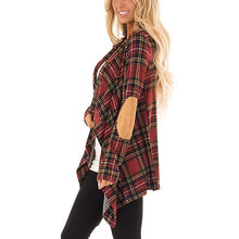 Fashion Casual Long Sleeves Collarless Grid Cardigans
