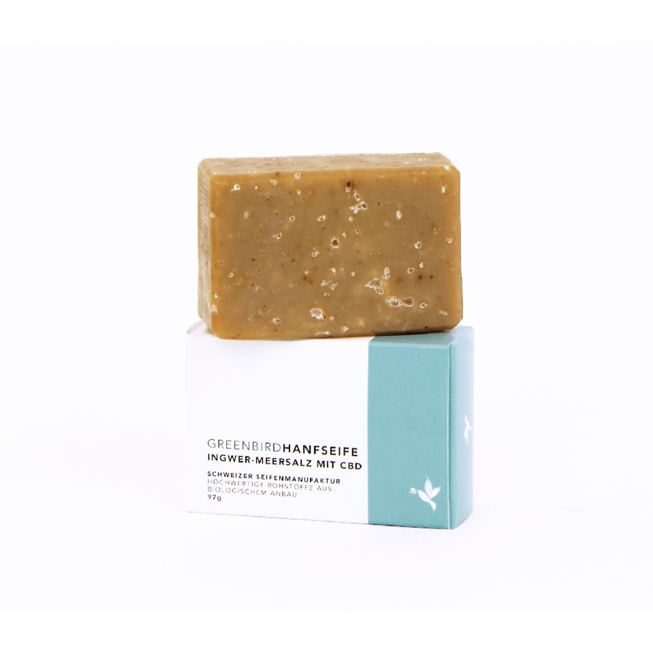 Organic Hemp Soap with Ginger & Sea Salt-CBD Cosmetics-Greenbird-Swiss CBD Shop-uWeed