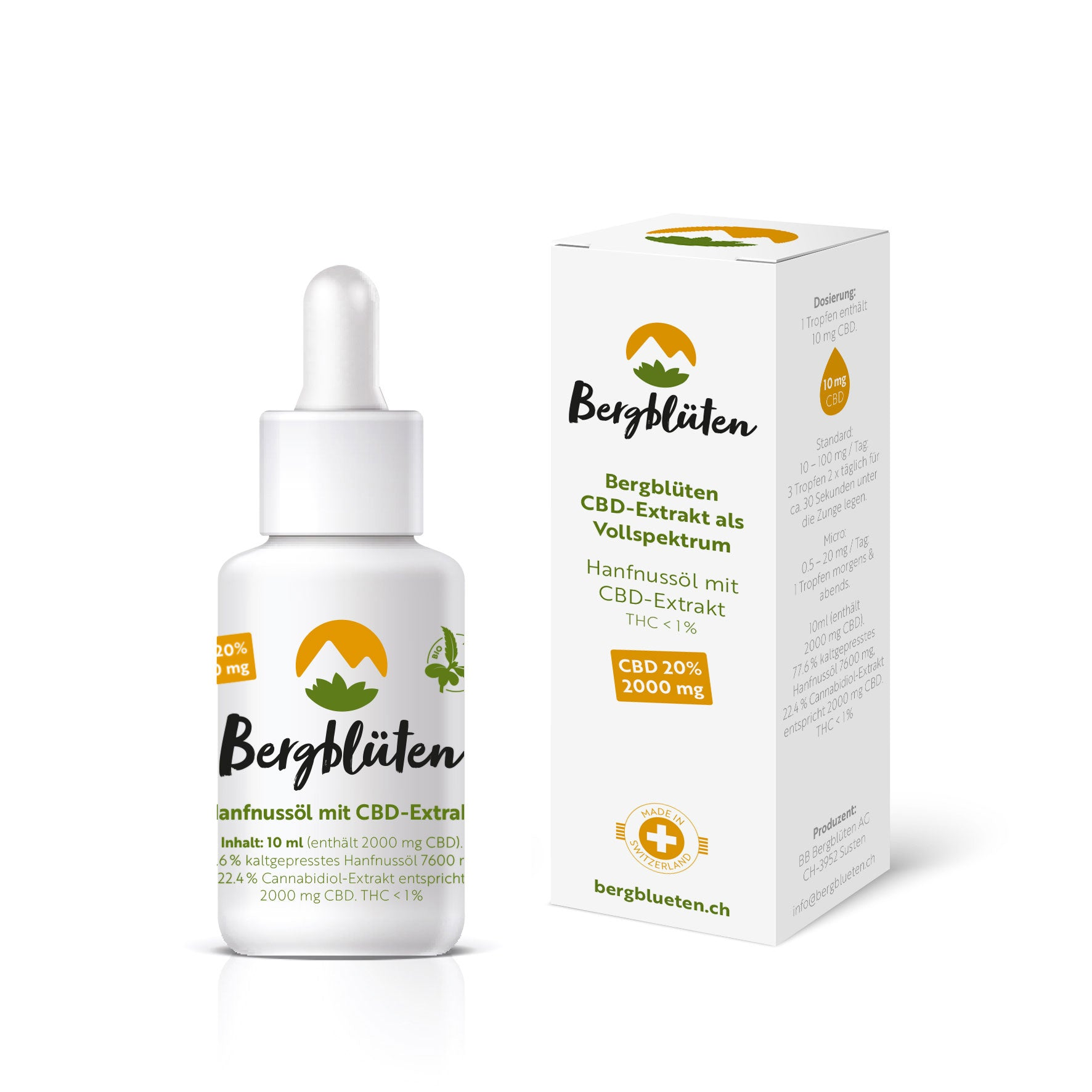 Natural 20% - Full-Spectrum CBD Oil-CBD Oil-Bergblüten-Swiss CBD Shop-uWeed