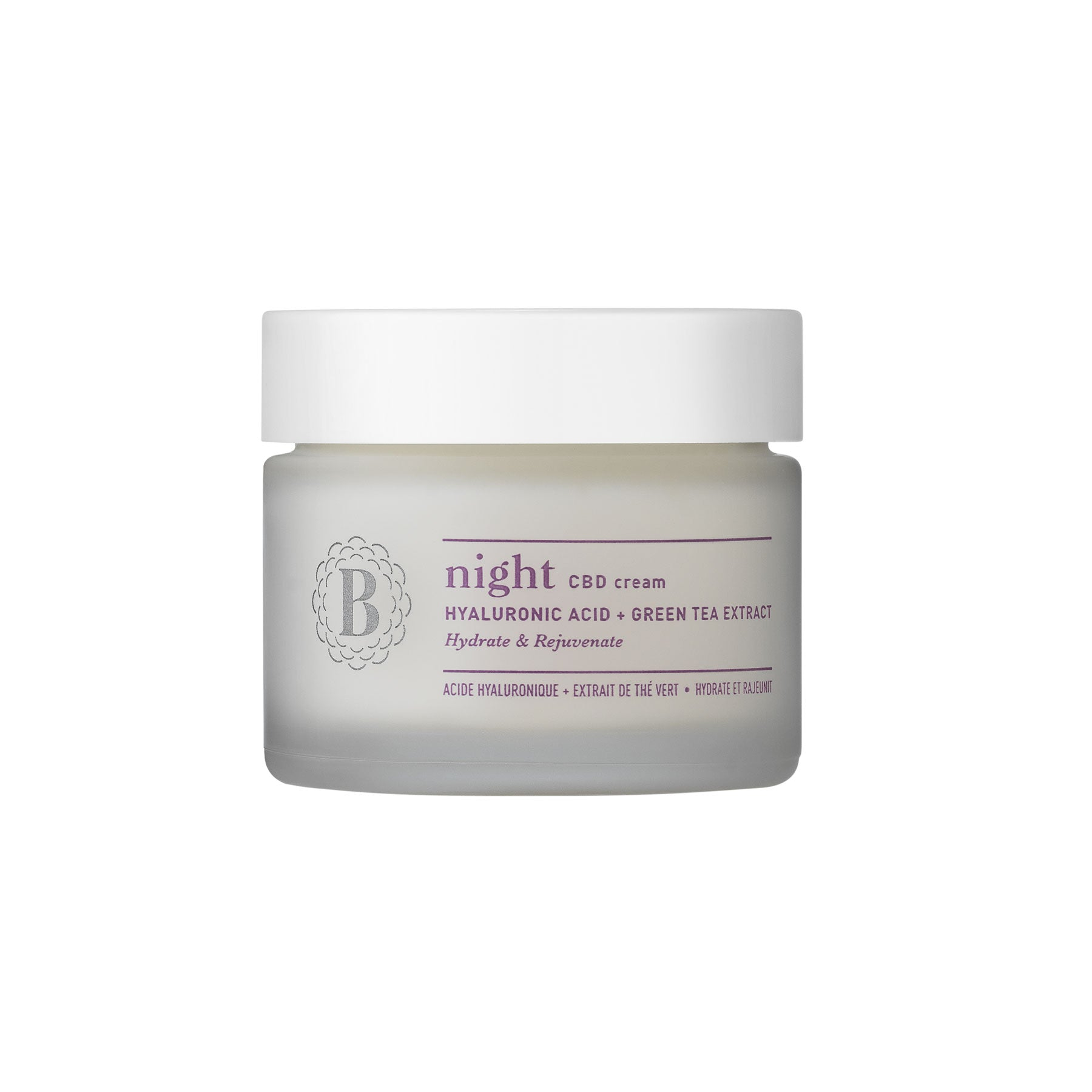 NIGHT - CBD Cream with Hyaluronic Acid & Green Tea Extract-CBD Cosmetics-Blossom-Swiss CBD Shop-uWeed