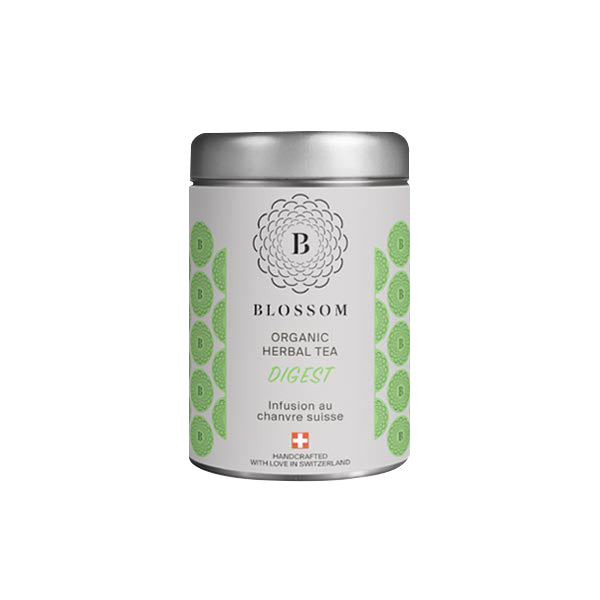 Organic Herbal Tea with Swiss Hemp - Digest | Blossom | CBD Tea | uWeed | Swiss CBD Shop