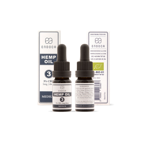 Hemp Oil Drops - 300mg CBD (3%)-CBD oil-Endoca-Swiss CBD Shop-uWeed