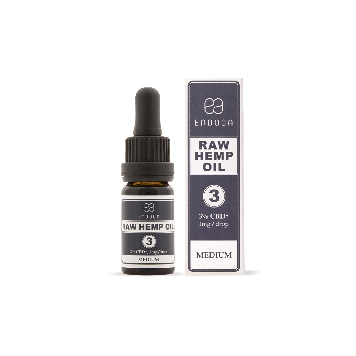 Raw Hemp Oil Drops - 300mg CBD + CBDa (3%)