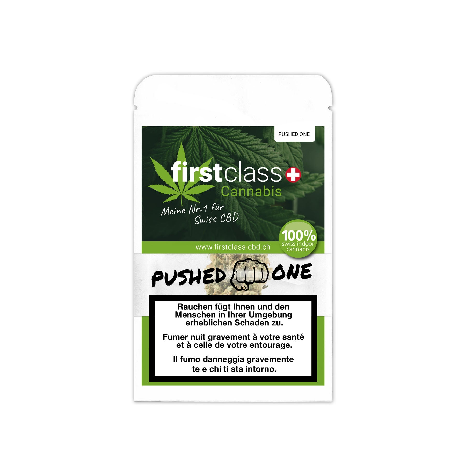 Pushed One-CBD Cannabis-First Class CBD-Swiss CBD Shop-uWeed