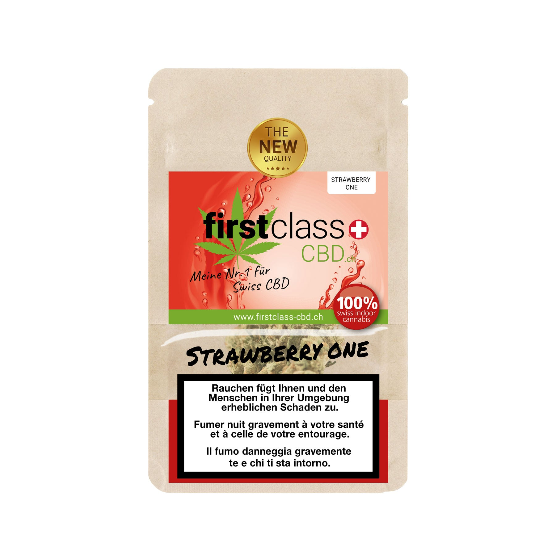 Strawberry One-CBD Cannabis-First Class CBD-Swiss CBD Shop-uWeed