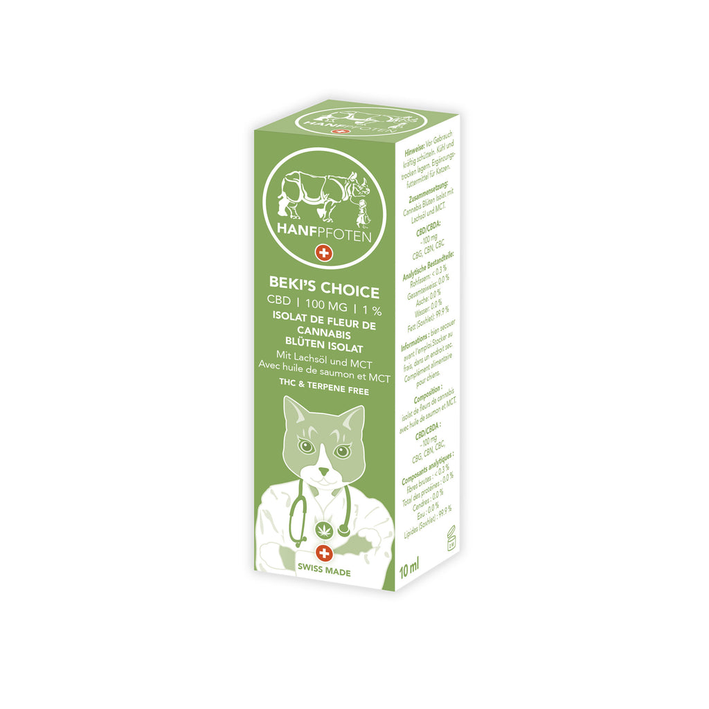 Beki's Choice - CBD Oil for Cats (100mg)-CBD for Pets-Hanfpfoten-Swiss CBD Shop-uWeed
