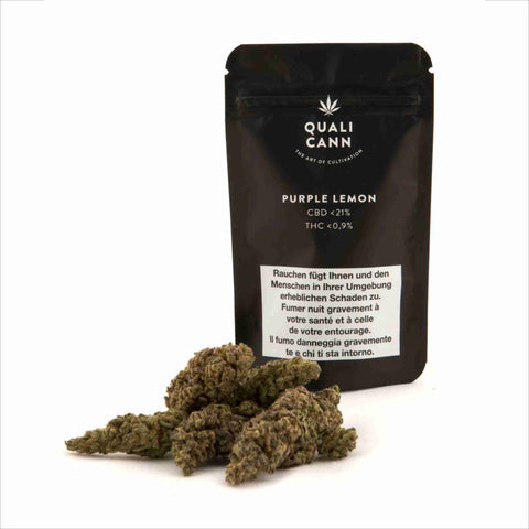 Qualicann - Purple Lemon - CBD Cannabis - Buy online in uWeed shop - Switzerland