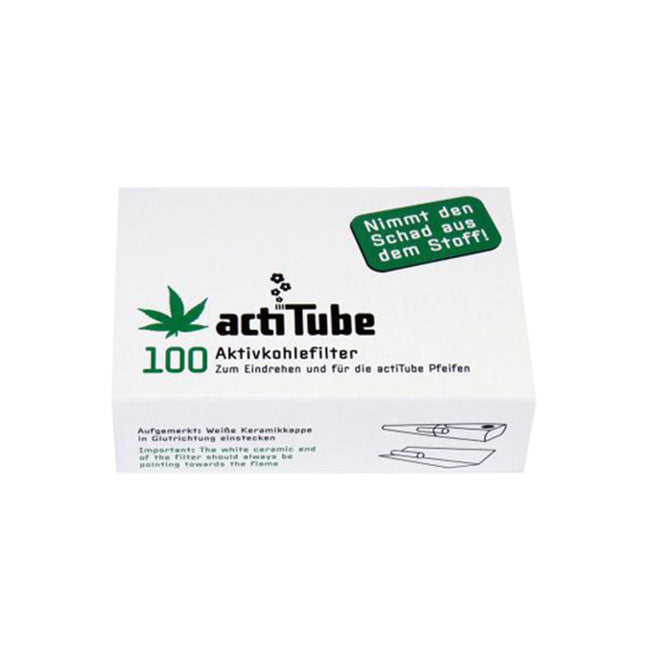 Activated Charcoal Filters - Standard | actiTube | Smoking Accessories | uWeed | Swiss CBD Shop