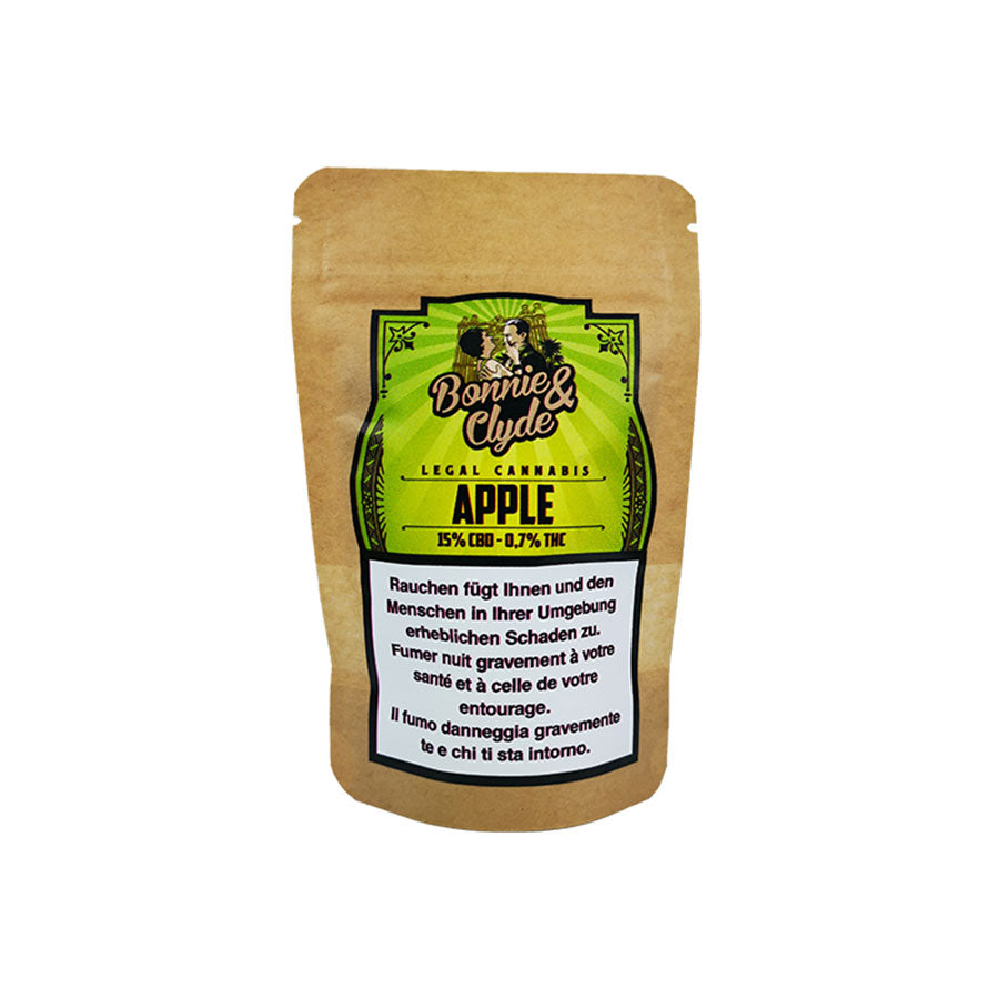 Bonnie & Clyde - Apple - CBD Hemp - Buy cannabis online in CBD shop - uWeed Switzerland
