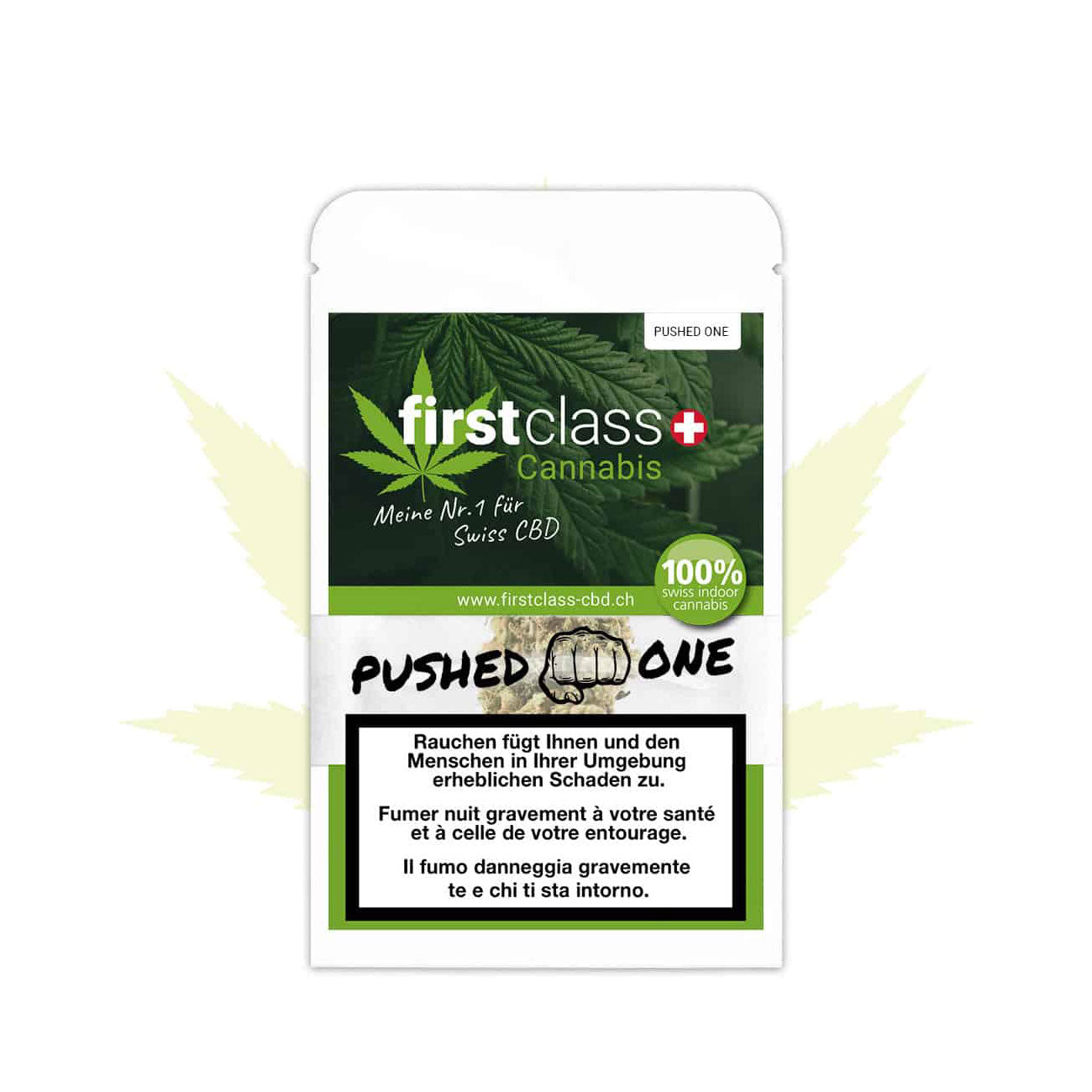 Pushed One Small Buds-CBD Cannabis-First Class CBD-Swiss CBD Shop-uWeed