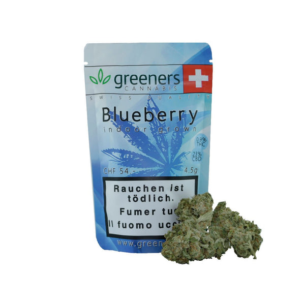 Greeners - Blueberry - CBD Cannabis - Buy online in Swiss CBD shop - uWeed Switzerland