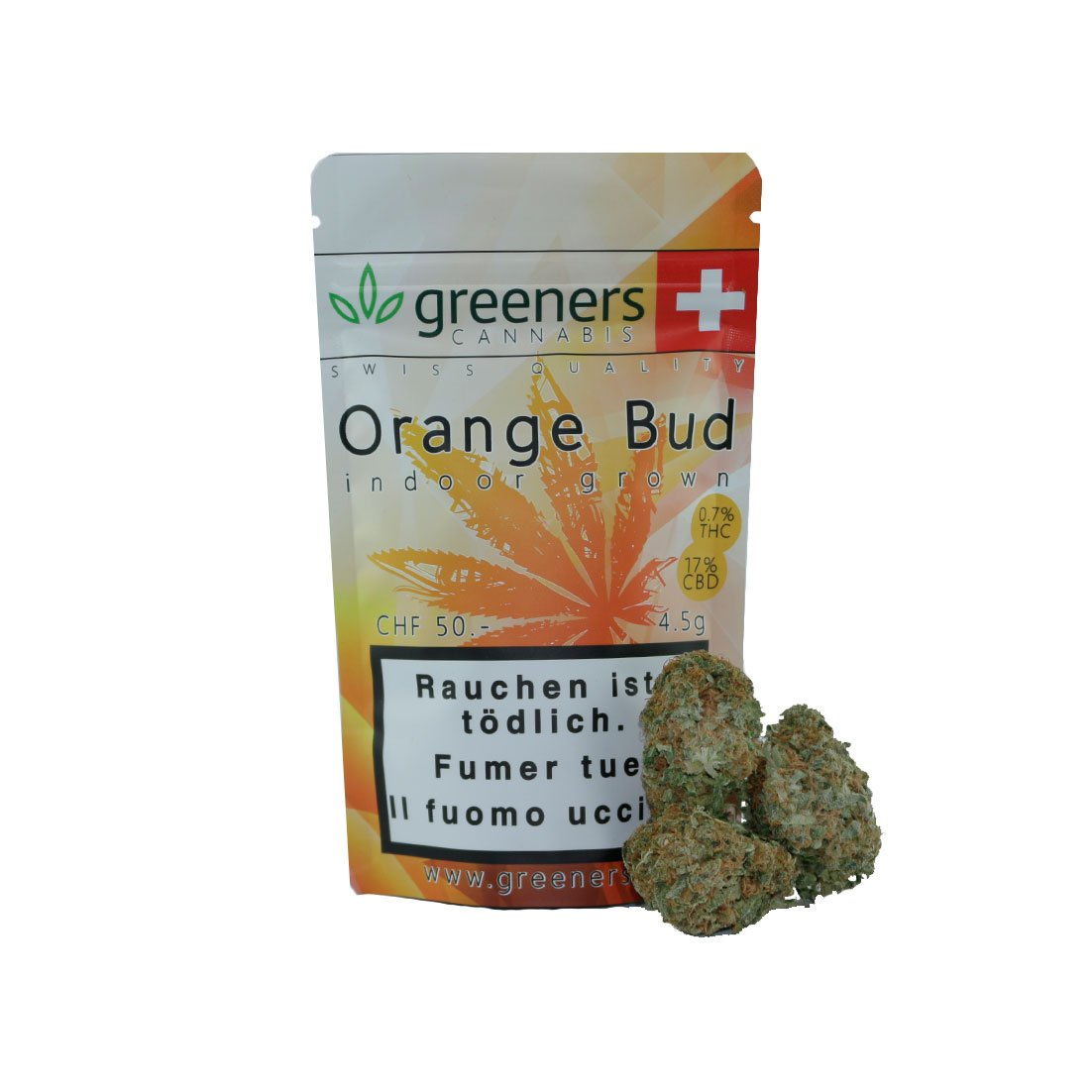 Orange Bud-CBD Cannabis-Greeners-Swiss CBD Shop-uWeed