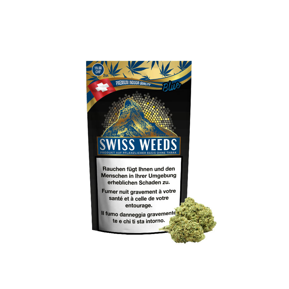 Swiss Weeds Blue | Pure Production | CBD Cannabis | uWeed | Swiss CBD Shop