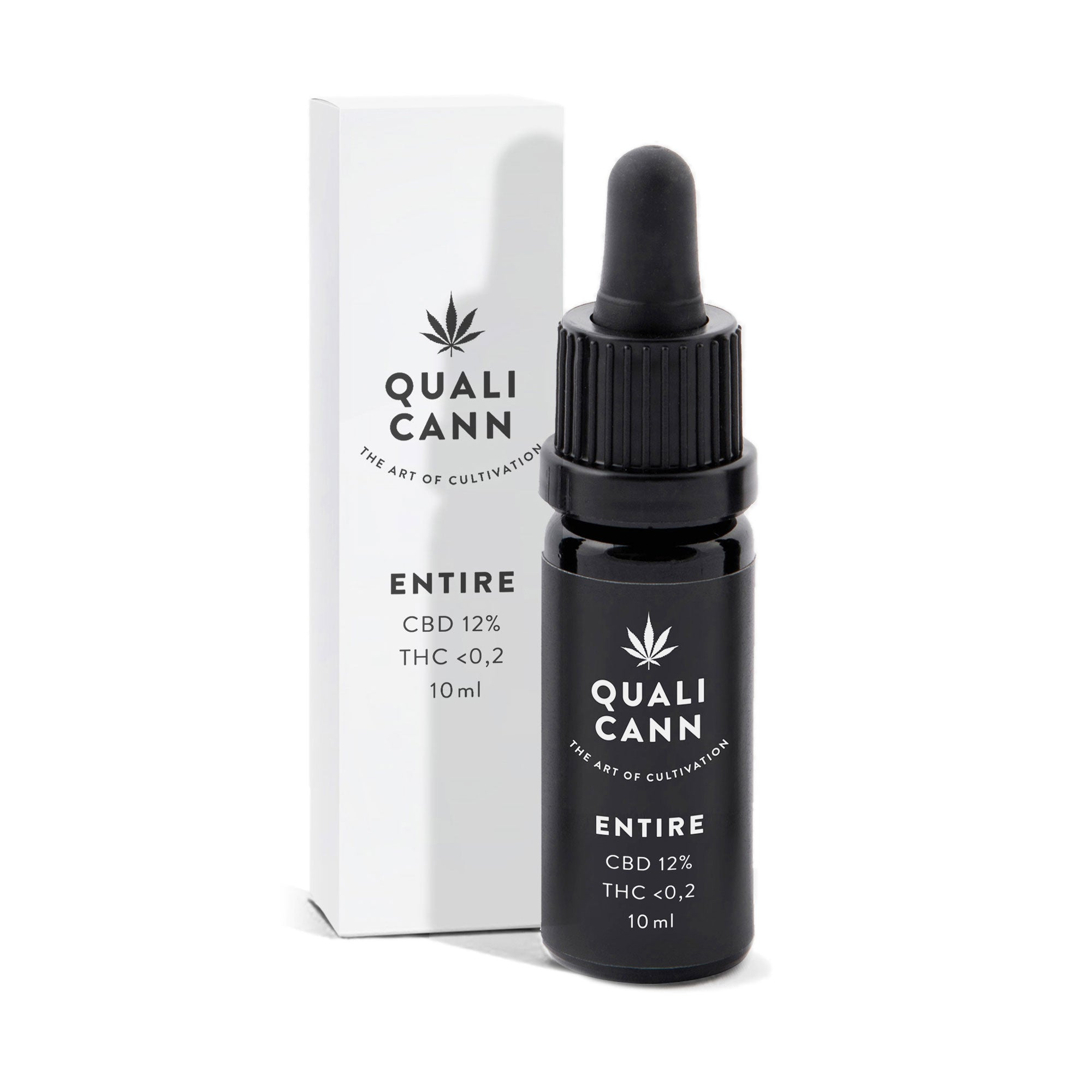 Entire 12% Full-Spectrum CBD Oil (1200mg) | Qualicann | CBD oil | uWeed | Swiss CBD Shop | Buy Online Shop CBD Switzerland