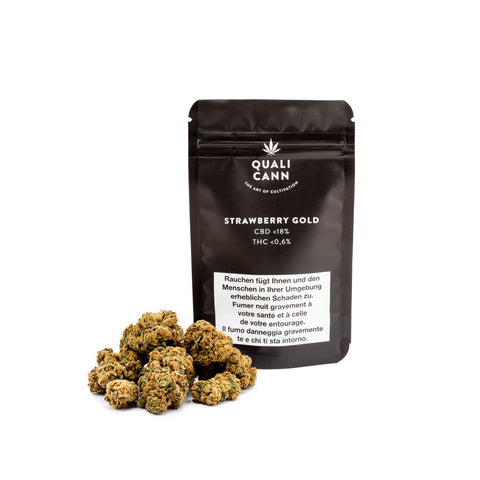 Strawberry Gold - CBD Cannabis | Qualicann | CBD Cannabis | uWeed | Swiss CBD Shop | Buy Online Shop CBD Switzerland