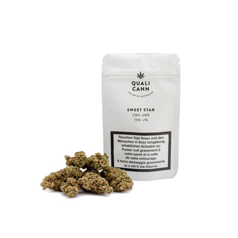 Sweet Star | Qualicann | CBD Cannabis | uWeed | Swiss CBD Shop | Buy Online Shop CBD Switzerland