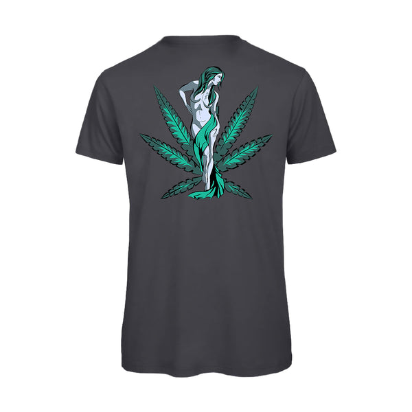 uWeed T-shirt - Cannabis Goddess - DarkGrey-Fashion-uWeed-Swiss CBD Shop-uWeed