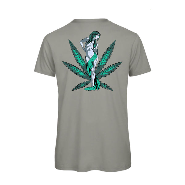 uWeed T-shirt - Cannabis Goddess - LightGrey-Fashion-uWeed-Swiss CBD Shop-uWeed