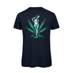 uWeed T-shirt - Cannabis Goddess - Navy-Fashion-uWeed-Swiss CBD Shop-uWeed