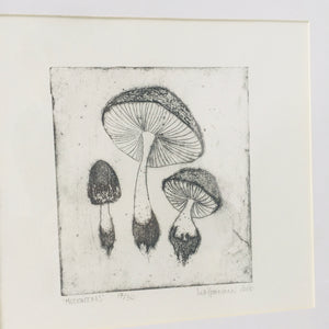 COLLOGRAPHY Mushrooms (30x30)