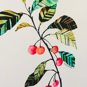 ORIGINAL Big Cherries (50cm x 70 cm)