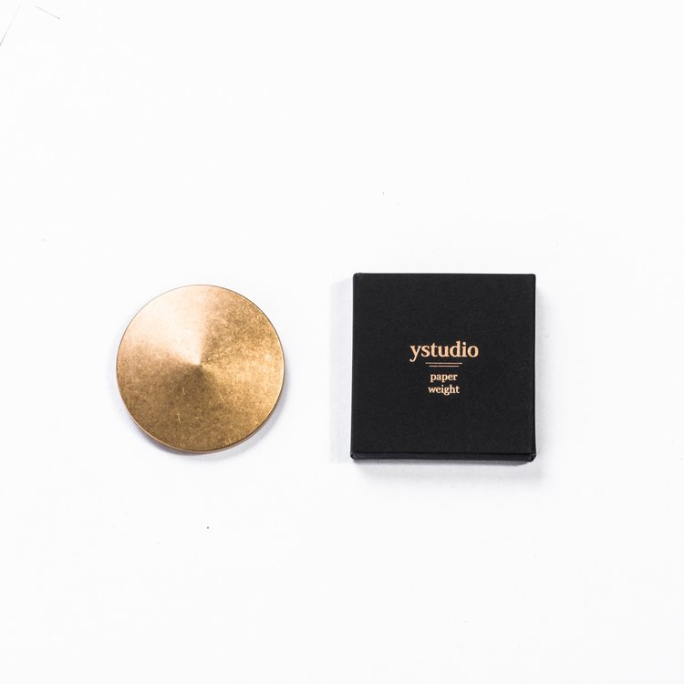 Ystudio Brass Paper Weight