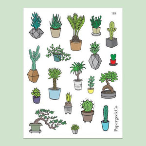 PAPERGEEK Succulents Stickers 118