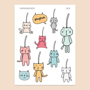 PAPERGEEK Cat Keychain Stickers 145