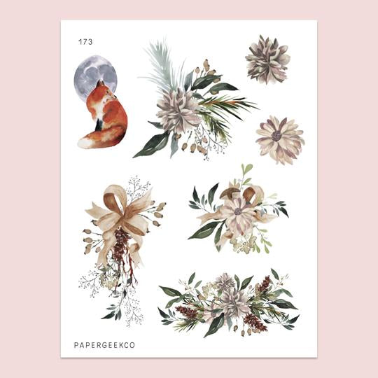 PAPERGEEK Serene - Floral Stickers 173
