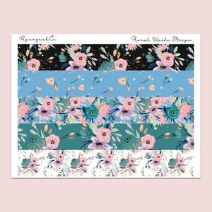 PAPERGEEK Floral Washi Strips Stickers