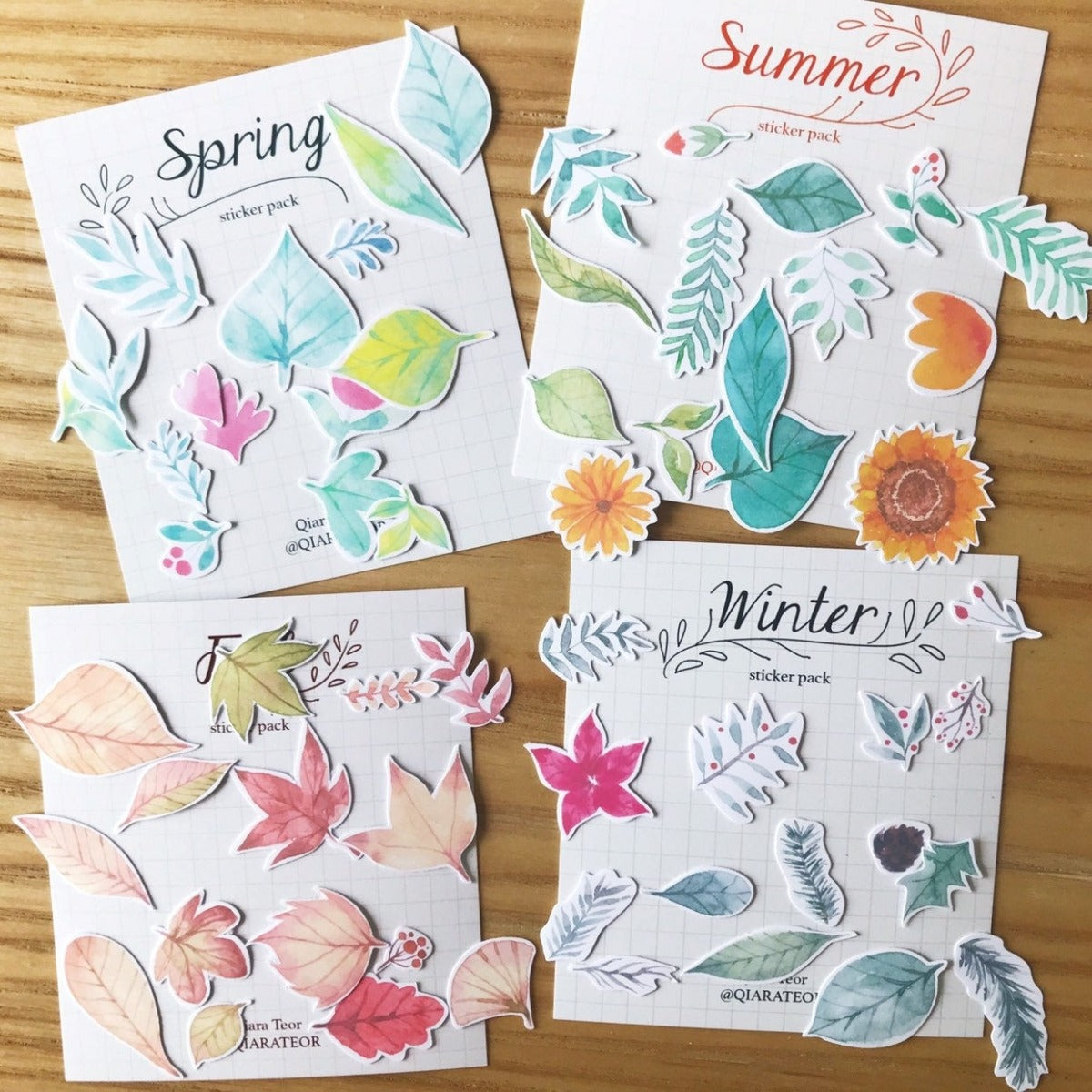 Qiara's Summer Sticker Pack