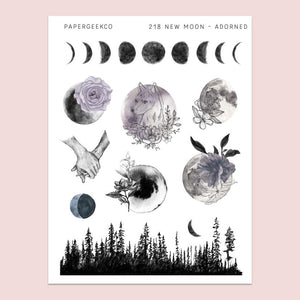 PAPERGEEK Adorned Moon Stickers 218