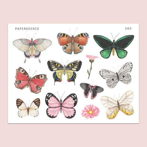 PAPERGEEK Butterfly Stickers 242
