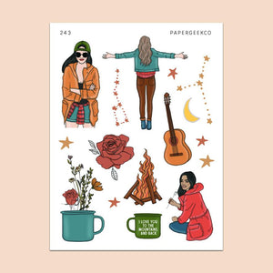 PAPERGEEK Cozy Fall - Camping Stickers 243