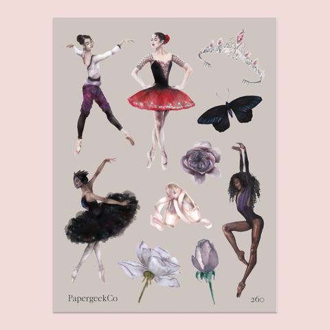 PAPERGEEK Ballerina NOIR Stickers 260