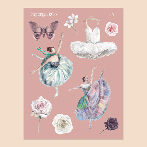 PAPERGEEK Ballerina Stickers 261