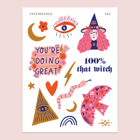 PAPERGEEK Magic Witch Stickers 263