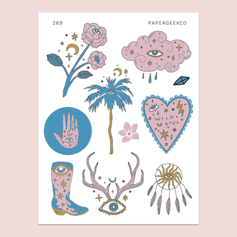 PAPERGEEK Boho Witchcraft Stickers 269