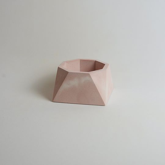 Pink Geometric Planter Medium