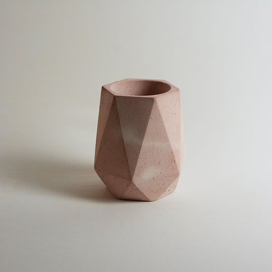 Pink Geometric Planter Tall
