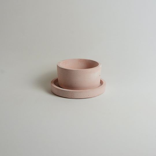 Pink Cyclinder Planter Small