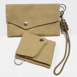 2 Way Folded Canvas Wallet - Small