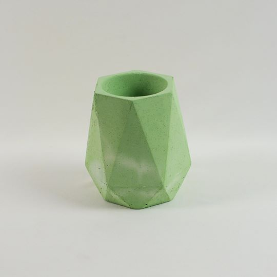 Green Geometric Planter Tall