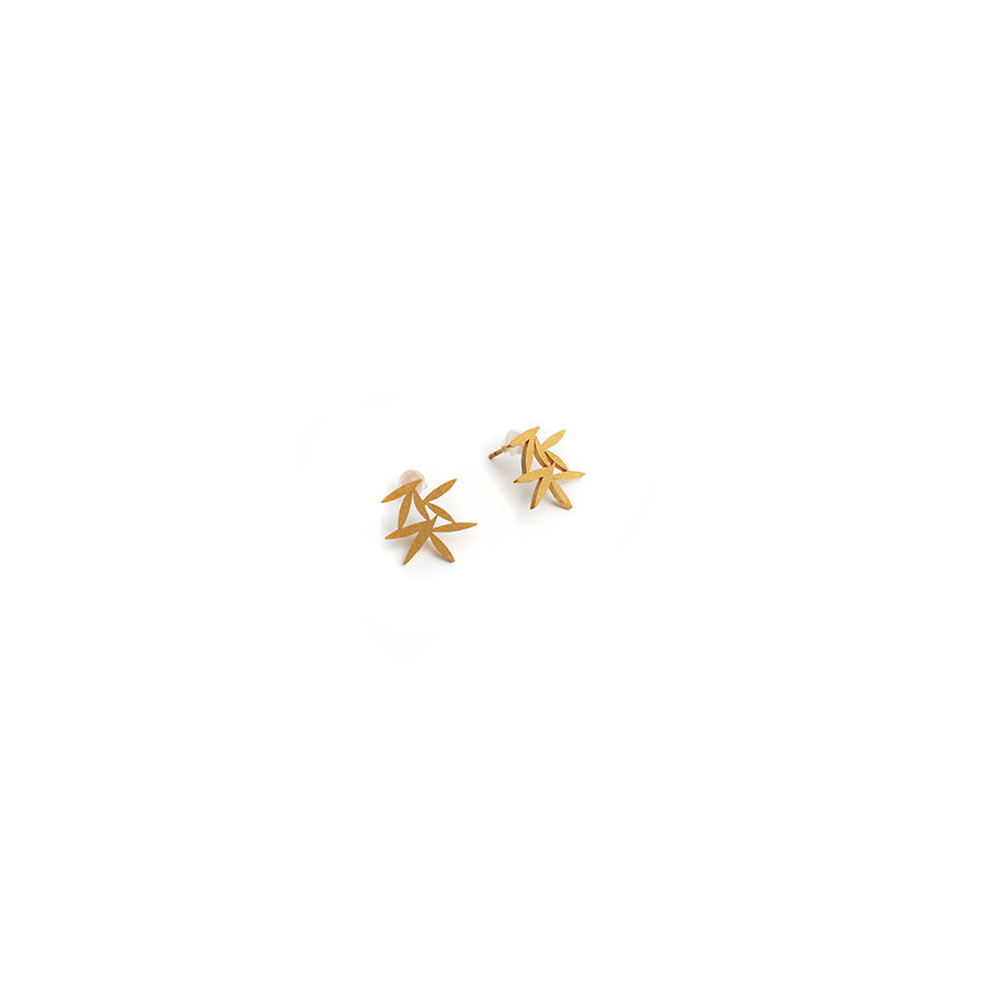 Maple Petal Stud Earrings
