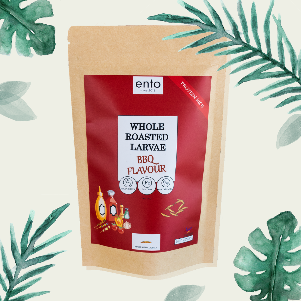 ENTO: BBQ Roasted Larvae 50g