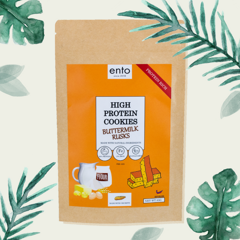 ENTO: High Protein Cookies 85g - Buttermilk Rusks