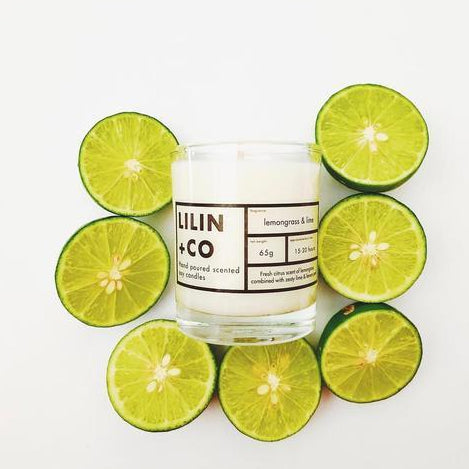 Lemongrass & Lime Scented Candle