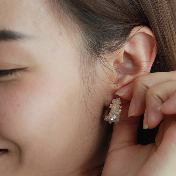 Mano Plus Alora Crystal Stud Earrings
