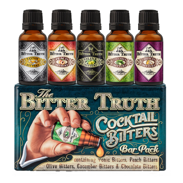 The Bitter Truth Cocktail Bitters Bar Gift Tin (20ml x 5)