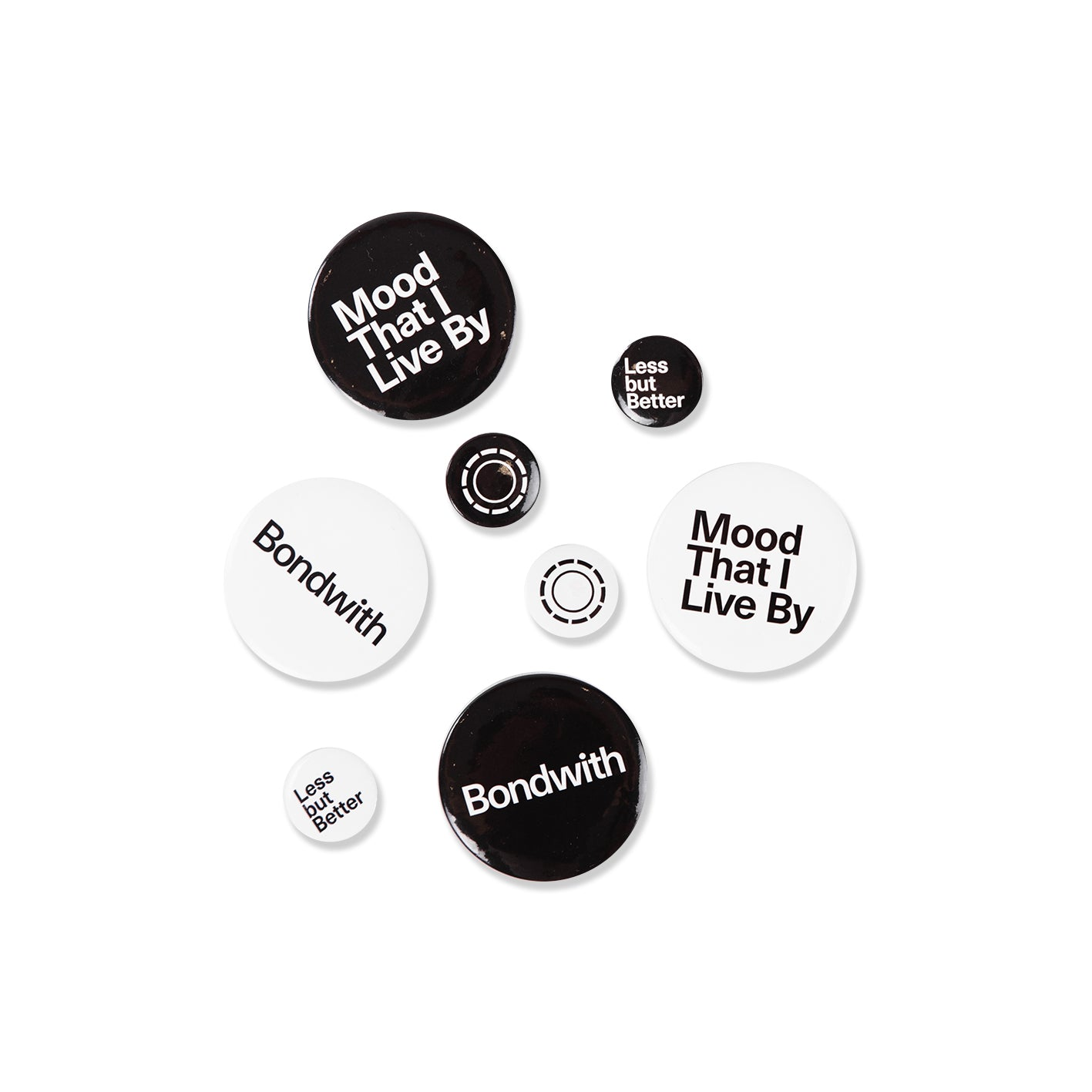 BONDWITH Button Badge: Mood That I Live By / White / 50mm